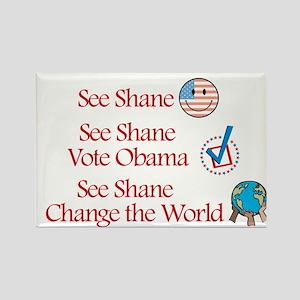 See Shane Vote Obama Rectangle Magnet