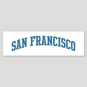 San Francisco (blue) Bumper Sticker