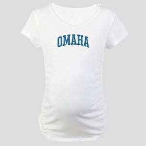 Omaha (blue) Maternity T-Shirt