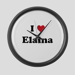 I love Elaina Large Wall Clock