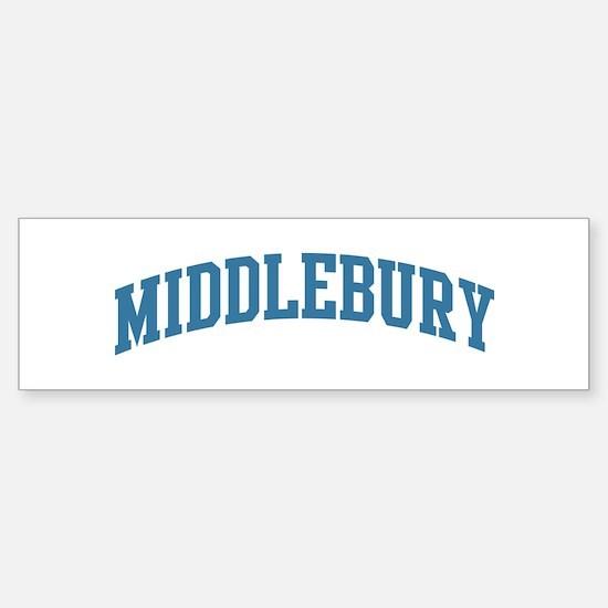 Middlebury (blue) Bumper Bumper Bumper Sticker