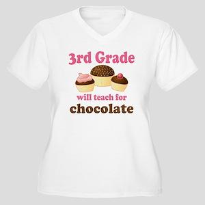 Funny 3rd Grade Women's Plus Size V-Neck T-Shirt