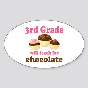 Funny 3rd Grade Oval Sticker