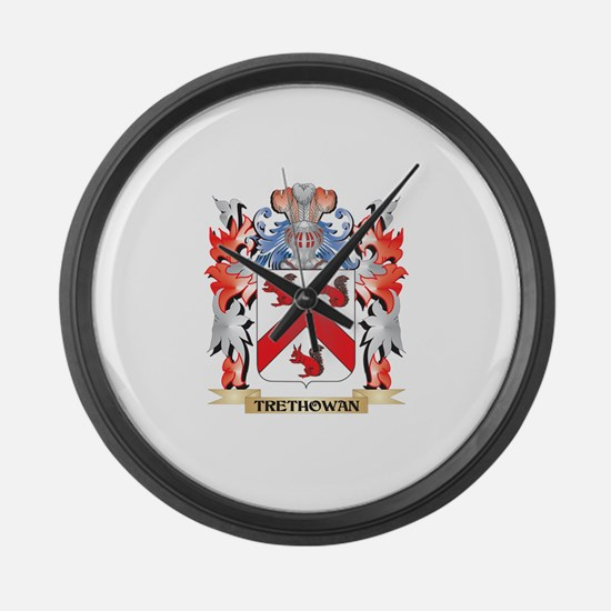 Trethowan Coat of Arms - Family C Large Wall Clock
