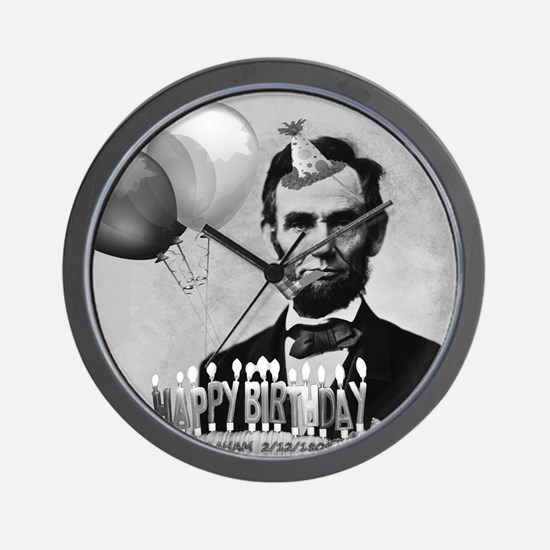 Lincoln's Birthday Wall Clock