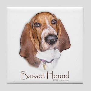 Basset Hound Design Tile Coaster