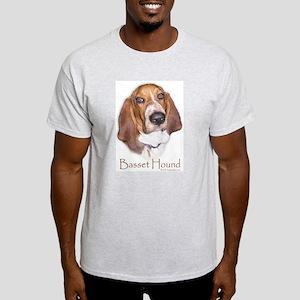 Basset Hound Design Ash Grey T-Shirt
