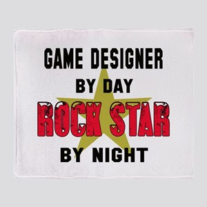 Game designer By Day, Rock Star By n Throw Blanket