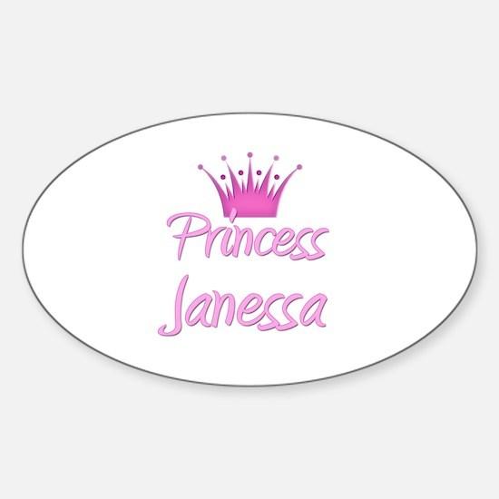 Princess Janessa Oval Decal