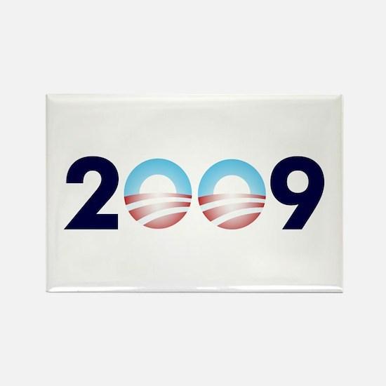 2009 Barack Obama Logo Rectangle Magnet