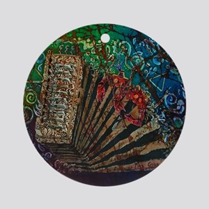 Cajun Accordian Ornament (Round)