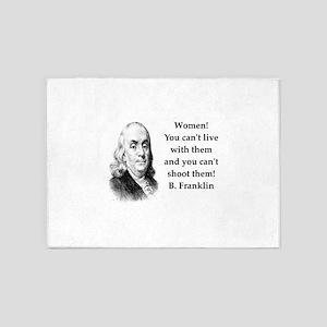 Ben Franklin misquote 5'x7'Area Rug