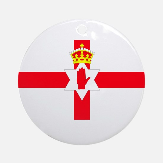 NORTHERN IRELAND FLAG SHIRT Ornament (Round)
