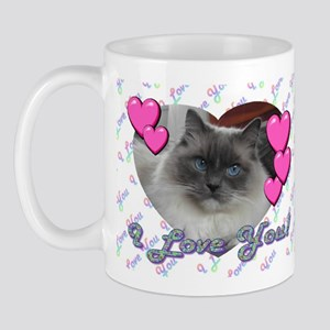 Sweet Ragdoll Cat Mugs