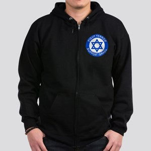 I Support Israel Zip Hoodie (dark)