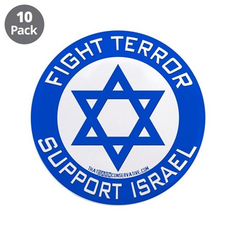 """I Support Israel 3.5"""" Button (10 pack)"""