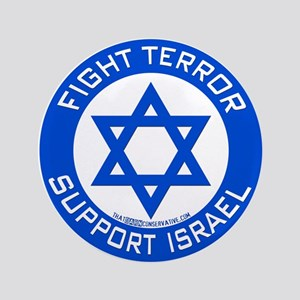 """I Support Israel 3.5"""" Button"""