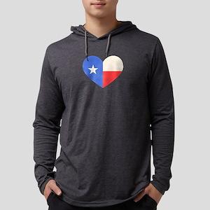 Texas Flag Heart Long Sleeve T-Shirt