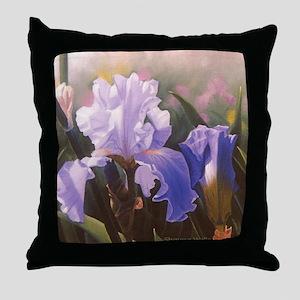 Blue Violet Iris Throw Pillow