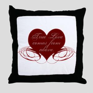 Christian Valentine's Day Throw Pillow
