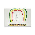 ThreePeace Rasta Rectangle Magnet (100 pack)