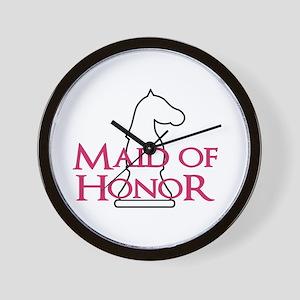 MaidOfHonor - White Knight Wall Clock