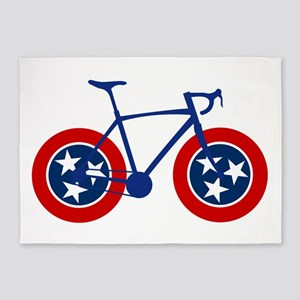 Tennessee Flag Cycling 5'x7'Area Rug
