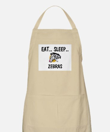 Eat ... Sleep ... ZEBRAS BBQ Apron
