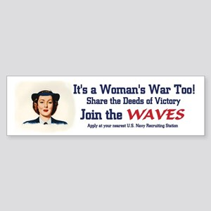 WAVES WWII Bumper Sticker (10 pk)