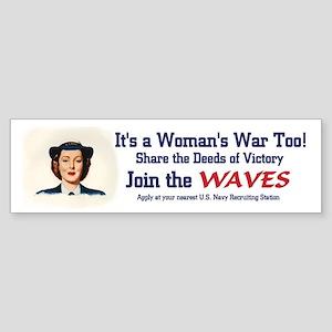 WAVES WWII Bumper Sticker