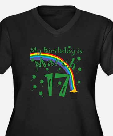 St. Patrick's Day March 17th Birthday Women's Plus