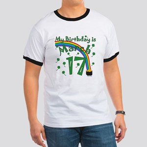 St. Patrick's Day March 17th Birthday Ringer T