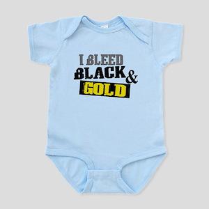Bleed Black and Gold Infant Bodysuit