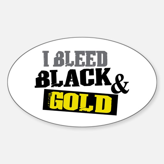 Bleed Black and Gold Oval Decal