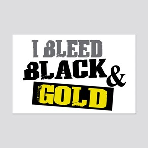 Bleed Black and Gold Mini Poster Print