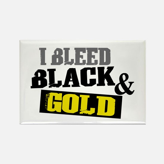 Bleed Black and Gold Rectangle Magnet
