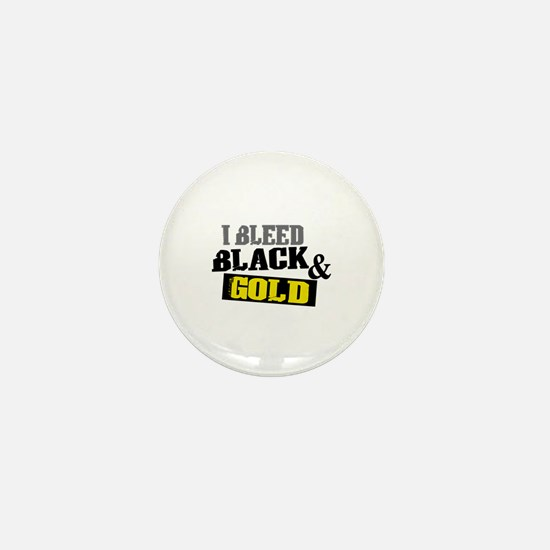 Bleed Black and Gold Mini Button
