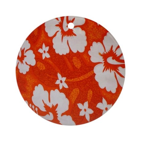Tropical orange Ornament (Round)