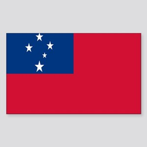SAMOAN FLAG Rectangle Sticker