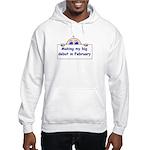 MAKING MY BIG DEBUT IN FEBRUA Hooded Sweatshirt