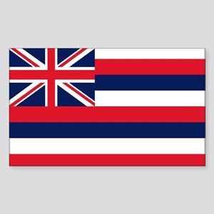 HAWAII STATE FLAG Rectangle Sticker