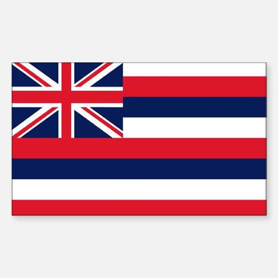 HAWAII STATE FLAG Rectangle Decal