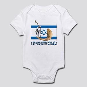 I stand with Israel 2 Infant Creeper