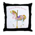 Carousel Horse Throw Pillow