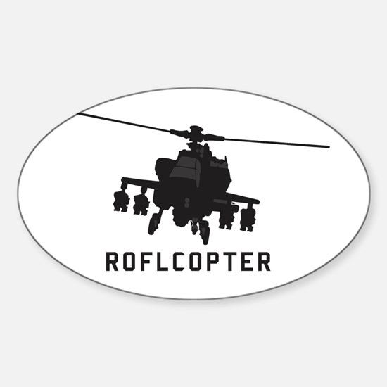 ROFLCOPTER Oval Decal