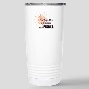 She is Fierce - Grunge Stainless Steel Travel Mug