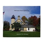 Mcgulpin Point Lighthouse Throw Blanket