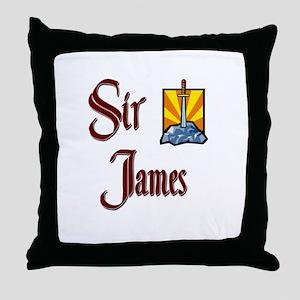 Sir James Throw Pillow