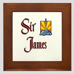 Sir James Framed Tile