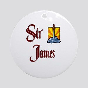 Sir James Ornament (Round)